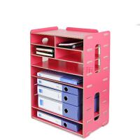大政木质桌面办公用品A4A5票据快递单打印机多层文件架座框D099