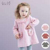 davebella戴维贝拉女童秋装宝宝婴儿长袖公主连衣裙DB1585
