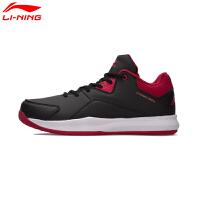 李宁篮球鞋男鞋篮球系列柔软包裹透气实战运动篮球场地鞋ABPM025