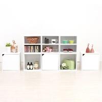 【限时7折】易书柜书架约木收纳格子柜自由组合小柜子储物柜带门组装