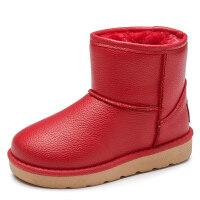 童鞋儿童雪地靴女童靴子防水加绒加厚保暖冬季鞋宝宝短靴男童棉靴srr
