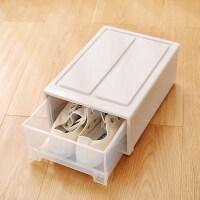 家居生活用品柜透明抽屉式盒整理箱储物衣柜塑料家用省空间子收纳盒组合 6个装