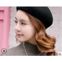 新品韩版时尚贝雷帽女英伦潮人百搭羊毛呢蓓蕾帽女