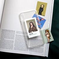 移动画廊透明苹果手机壳iphoneXsMax8p华为ins美术生 7/8 透明壳+4张卡片