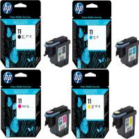 原装惠普HP 11号 打印头系列 C4810A黑色 C4811A 青色 C4812A品红色 C4813A 黄色 适用于