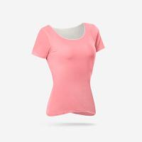瑜伽服女2018新款春夏健身服速干透气跑步运动含胸垫短袖上衣