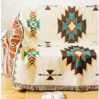 特价~北欧美式乡村几何外贸休闲棉毯装饰毯毛毯沙发毯地毯盖毯