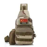 军迷户外骑行单肩包带水壶套胸包战术小背包休闲男包运动小挎
