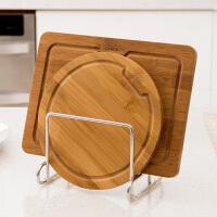 【清仓】ORZ 厨房不锈钢迷你砧板架 多功能碗碟架置物架菜板架碟子收纳架