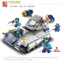 快乐小鲁班益智拼装积木儿童智力拼插玩具导弹车模型男孩6岁以上