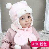婴儿帽子秋冬季新生婴幼儿童加厚0初生胎帽棉男女宝宝雷锋帽潮1岁 0-24个月