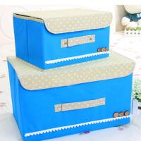 思故轩单盖腹膜纯色可洗收纳箱 储物箱 整理箱有盖防水防潮