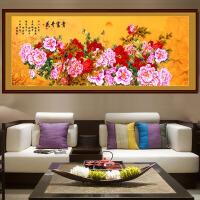 手工十字绣成品花开富贵春国色天香 牡丹2.4米大幅客厅挂画 花开富贵 240*95cm