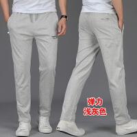 夏季运动裤男宽松休闲长裤男装直筒大码男裤夏天薄款卫裤男士裤子