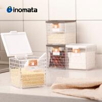 inomata日本进口厨房用大号调料盒塑料调味瓶罐家用调味品收纳盒