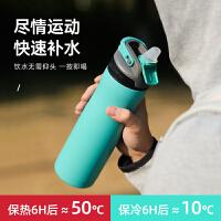 BTIF保温杯带吸管男316不锈钢成人便携运动水杯子女大容量保温壶
