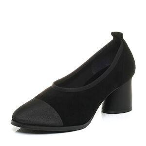 Belle/百丽2017秋优雅复古羊绒皮/纺织品奶奶鞋女单鞋78015CQ7