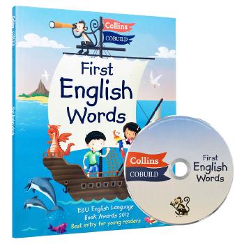 柯林斯儿童英语字典 Collins First English Word 英文原版书 我的本英文词典 柯林斯英英词典 少儿英语启蒙 英文版正版进口书 英国爱丁堡大奖,36个主题+300个常用单词
