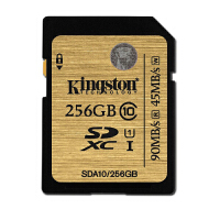金士顿SD卡 256G class10 Kingston SDXC 256g 90m/s金卡 256g 相机卡256G