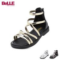 百丽Belle童鞋2018新款儿童凉鞋时尚潮流女童凉鞋环带女生夏款时装鞋(5-10岁可选) DE0568