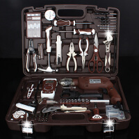 五金工具箱套装 维修电工组套 多功能家用手动组合带电钻n4j