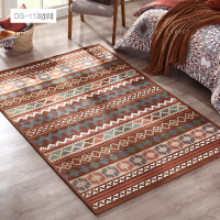 地毯客厅茶几地毯美式欧式地毯现代条纹可机洗家用毯床边卧室地毯