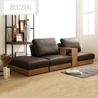 ZUCZUG日式皮艺小户型简易沙发床两用可折叠多功能皮沙发床客厅单人双人 皮艺咖啡色 2米以上