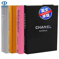英文原版 T台时装秀Catwalk系列4册艺术书 迪奥Dior 香奈儿Chanel 经典时尚服饰服装设计作品集 摄影画册