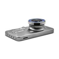 4寸2.5D屏行车记录仪汽车记录仪1080p高清夜视前后双录锌合金 2.5D金属双镜头