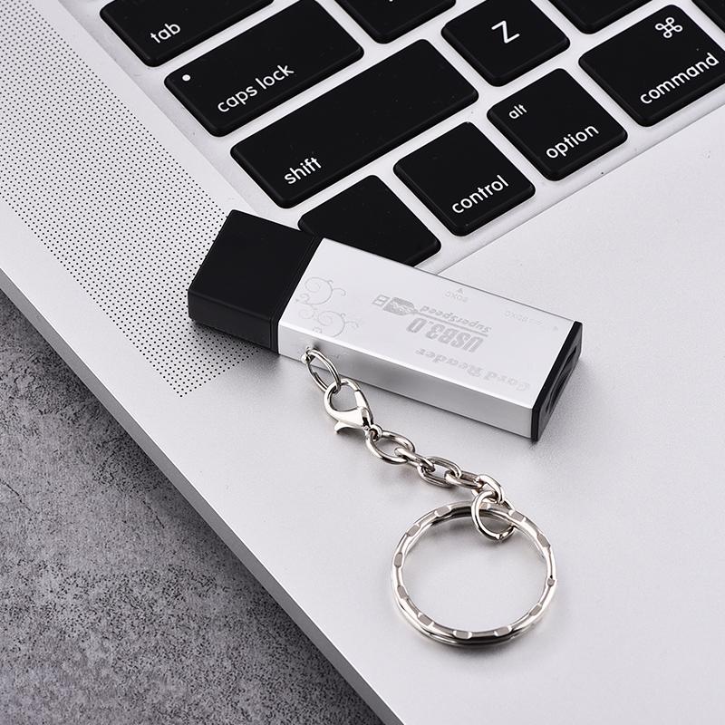 多合一USB3.0高速读卡器小型手机电脑佳能尼康单反相机U盘SD/TF车载多功能车用内存大卡通用迷你  USB3.0 高速传输小巧便携