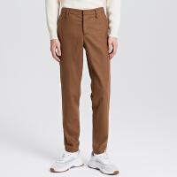 【1件3折价:104.7】MECITY男装冬季羊毛男士修身长裤韩版潮流休闲裤