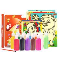 儿童沙画彩沙男孩女孩宝宝手工制作DIY摇摇沙砂套装益智玩具
