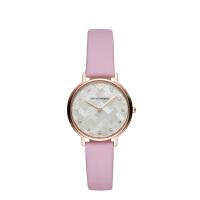 阿玛尼 Emporio Armani 女士手表皮质表带 欧美简约经典时尚休闲石英腕表AR11130