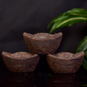【5个一起拍】2002年勐海古树元宝 熟茶 370克个