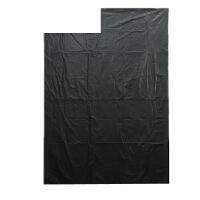 家用平口大码塑料袋加厚黑色大垃圾袋宾馆酒店物业环卫大号 加厚