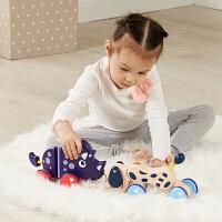 曼龙儿童拉绳玩具婴儿学步手拉车幼儿园宝宝牵引拉线小狗拖拉动物