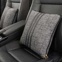 汽车抱枕被子两用一对多功能车内空调被午睡被车内折叠被亚麻四季 40*40 展开110*150厘米