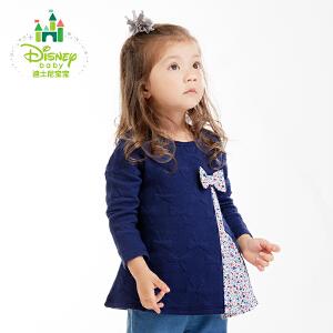迪士尼Disney 童装女童T恤时尚韩版上衣女宝宝外出服春秋163S866