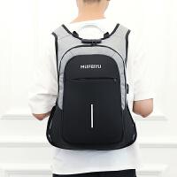 新款防盗双肩包男女高中小学生书包大容量旅游旅行背包商务电脑包