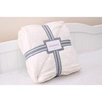 欧美纯色刷花羊羔绒毛毯加厚双层冬季沙发午睡盖毯珊瑚绒床单