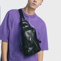时尚斜挎包胸包男士韩版潮休闲单肩包运动小背包腰包学生潮