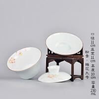 加大号盖碗 景德镇陶瓷功夫敬茶杯手绘手抓三才泡茶碗茶具