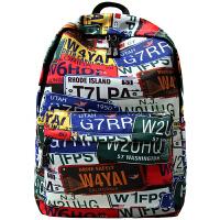 初中高中学生书包男潮流街头双肩包车校园个性旅行背包