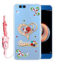 小米note3手机壳小米note3手机套保护套全包磨砂软壳女款潮水钻