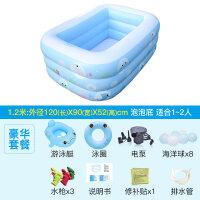 婴儿童充气游泳池家庭宝宝小孩戏水池加厚家用海洋球池