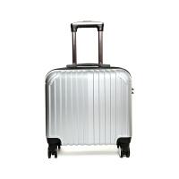韩版小行李箱拉杆箱男女18寸密码箱登机箱旅行箱包16寸航空皮箱子s6 奢华银 18寸
