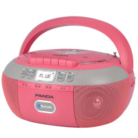 熊猫/PANDA CD-880蓝牙复读DVD机CD机播放机磁带U盘TF卡转录连 红色