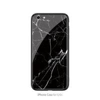 ins风裂纹大理石苹果8plus手机壳iphone7玻璃xs max黑白简约6s情侣7p个性创意6p 6/6S 黑白裂