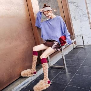 七格格宽松针织衫早秋新款女装秋季韩版慵懒风上衣套头衫毛衣