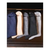 新款男士线棉袜子短袜抽条柔软加厚男袜保暖袜子商务袜 均码